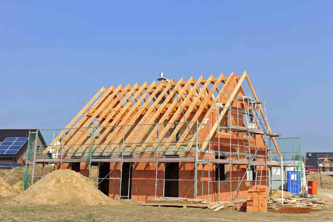 Baustelle - Einfamilienhaus - Eigenheim