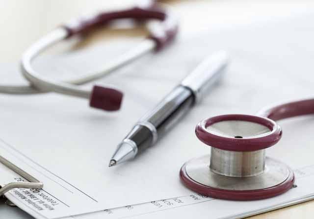 Stethoscope on prescription