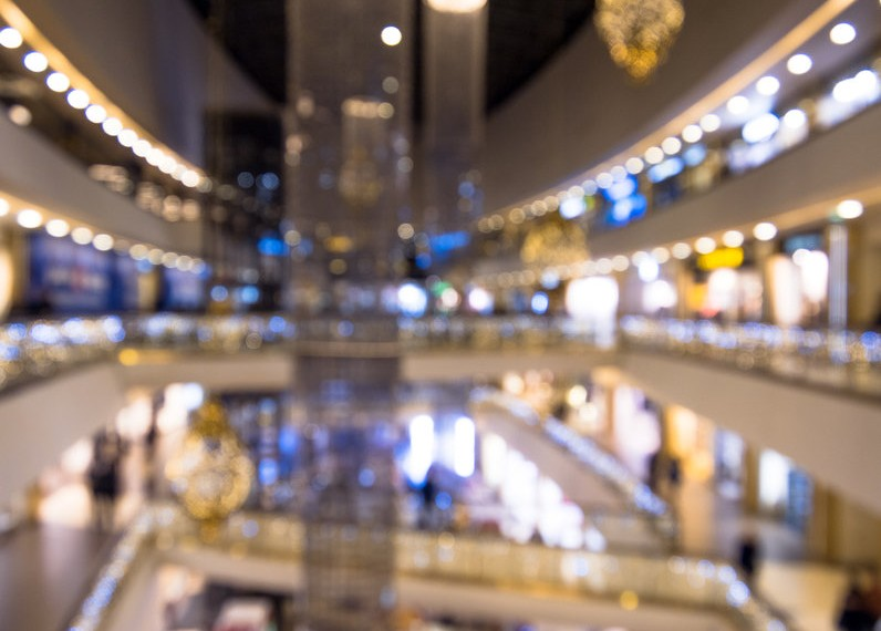 black friday shopping centre